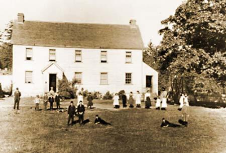 Craigflower Schoolhouse in the late 19th Century