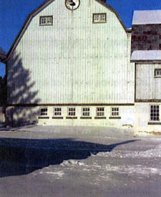 Side view of Cattle Barn Building 14