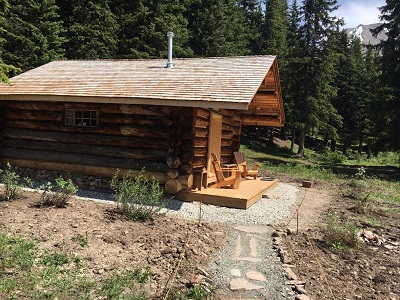 Wolverine Cabin, west elevation